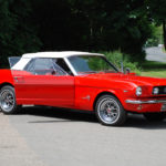 1964 ½ Red Convertible Mustang with Manual Gearbox