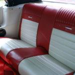 Red/cream Pony rear seats